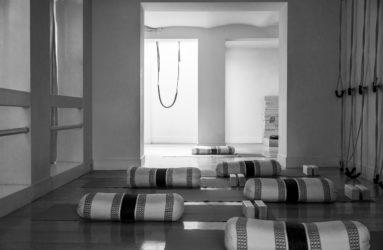 Yoga mats in yoga room